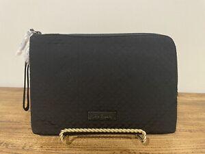 NWT Vera Bradley Iconic RFID Wristlet Purse Clutch Wallet in Black Microfiber
