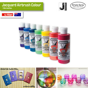 NEW Jacquard Airbrush Colour 118ml bottles Leather/Plastic/Rubber/Metal/Clay etc