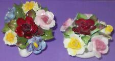 "Vintage Bone China Flower Baskets Royal Doulton & Aynsley China 3"""