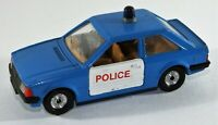 "Corgi 4.4"" FORD ESCORT 1.3 GL Diecast POLICE Car Blue & White No:334 Vintage"