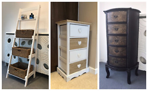 Storage Units Cupboards Wicker Assembled Bedroom Hallway Furniture Cabinets