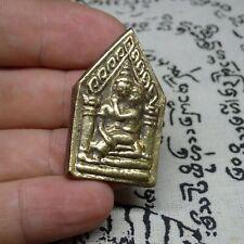 Khun Paen sacred Buddha Brass Guman Thong Boy Charm Love Amulet Gold color
