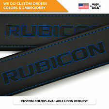 Seat Belt Covers Shoulder Strap Pads Custom Fits Jeep Wrangler Rubicon Blue 2PCS