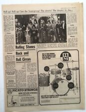 ROLLING STONES Rock n Roll circus review (MM) 1968 UK ARTICLE / clipping