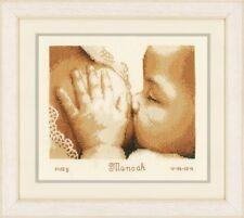 Vervaco-puntada cruzada contada Kit-registro de nacimiento-la lactancia materna-PN-0157245