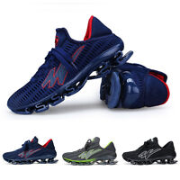Men's Big Size Blade Running Sneakers Shock Absorb Breathable Sport Casual Shoes