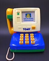 TOMY Talk To Teddy Chatterphone Classic Vintage Toy Telephone Rare 1991 Working