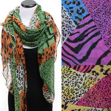 classy Women Fashion animal Leopard  Zebra Print Shawl Scarf Wrap Stole Long