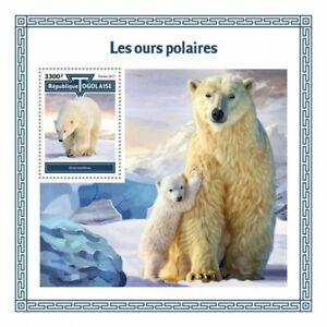 Togo Wild Animals Stamps 2017 MNH Polar Bears Bear Mammals Fauna 1v S/S