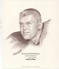 Large 1960s Print of NFL Champion Green Bay Packers Player Jerry Kramer