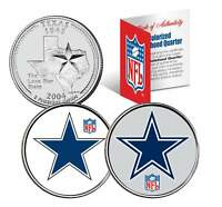 DALLAS COWBOYS * Retro & Team Logo * Texas Quarters 2-Coin U.S. Set NFL LICENSED