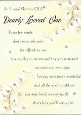 An Eternal Memory of a Dearly Loved One ~ Laminated grave card
