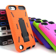 For iPod Touch 5th Gen 5 5G Heavt Duty Hybrid Impact Hard Case Cover kickstand