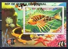 Poissons Guinée Equatoriale (27) bloc oblitéré