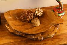 Teak Root Wood Bowl Fruit Bowl Decorative Dish Decoration Teakwood Solid Wood