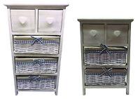 3/4Tier Storage Unit Wood Organiser Maize Basket Drawers Bathroom or Bedroom