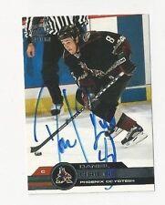 01/02 Pacific Autographed Card Daniel Briere Phoenix Coyotes