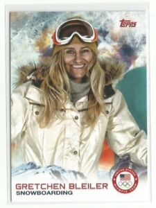 2014 Topps USA Olympic & Paralympic Gretchen Bleiler #7, Snowboarding