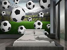 Football Soccer Green  Stadium Balls Wall Mural Photo Wallpaper GIANT WALL DECOR