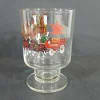 Budweiser Champion Clydesdale Horses Pedestal Beer Glass Collectible Barware