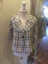 Waist Length Linen Checked Coats & Jackets for Women