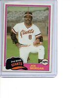 1981 Topps # 807 Joe Morgan San Francisco Giants SEE SCANS