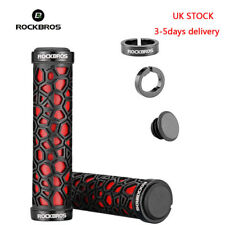 RockBros Bicycle Grips Anti-skid Double Lock-on Rubber Handlebar Red UK Stock
