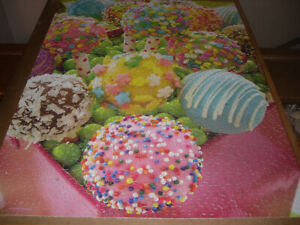 """SPRINGBOK 1000 piece puzzle, """"Cake Pops"""", missing one small piece, as shown"""