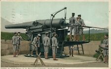 GUN DRILL ARTILLERY US WEST POINT MILITARY ACADEMY NY 1917 ANTIQUE POSTCARD