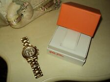 WOMAN FOLLI FOLLIE WATCH URBAN SPIN YELLOW GOLD*CHRONOGRAPH*BRACELET 42mm *BOX