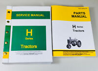 SERVICE MANUAL PARTS CATALOG JOHN DEERE H HN HNH HWH TRACTOR SHOP BOOK REPAIR