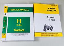 Service Manual Parts Catalog John Deere H Hn Hnh Hwh Tractor Shop Book Repair