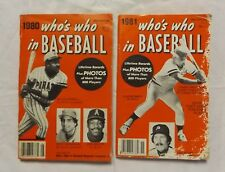 1980 + 1981 Who's Who in Baseball Willie Stargell George Brett Phillies Covers