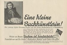 Y4568 Dr. Oetker's Backpulver Backin - Pubblicità d'epoca - 1929 Old advertising