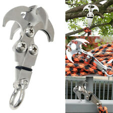Mini Gravity Hook Outdoor Fall Foldable Grappling Serrated Claws Rescue Keyring