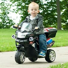 Toddler Ride On Motorcycle Battery Powered Trike Outdoor Kids Black Bike Power