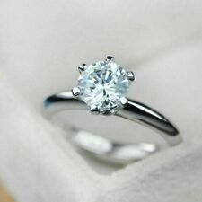 Gia Certified Natural Diamond 1.01CT Gorgeous Engagement Ring In 14K Gold I-VS2