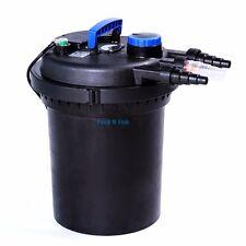 Pond Pressure Bio Filter 4000GAL W/ 13W UV Sterilizer Koi Fish Easy Backwash