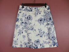 SK06503- NWT TALBOTS Woman 97% Cotton Slightly A-Line Skirt Multi-Color 10 $118
