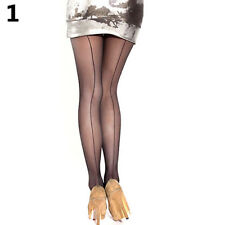 HK- Sexy Women Sheer Transparent Line Back Seam Tights Stockings Pantyhose Fashi