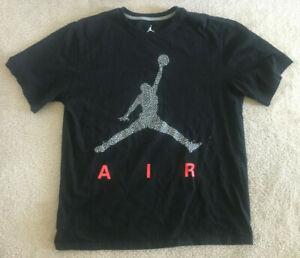 Michael Jordan Air T-Shirt Men's XL Jumpman Black EUC The Last Dance Bulls RARE