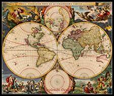 Chart Needlework Craft DMC - Counted Cross Stitch Patterns - New World Map