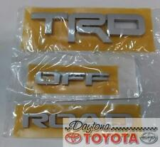 OEM TOYOTA 4RUNNER TRD OFF ROAD EMBLEM SET  FITS 2016-2017