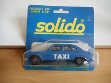 Solido Peugeot 504 Taxi in Blue on 1:43 on Blister