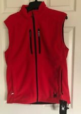Spyder Full Zip Fleece Mens Essential Vest Size Small. RED NWT