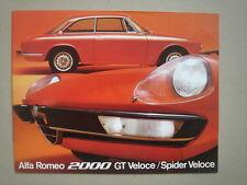 ALFA ROMEO  2000 GT Veloce/Spider Veloce  brochure/Prospekt  1973.