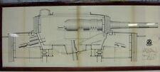 "ORIGINAL PRELIMINARY DESIGNS OF The U.S.S. MAINE 10"" GUNS & Turret Mounts 1889"