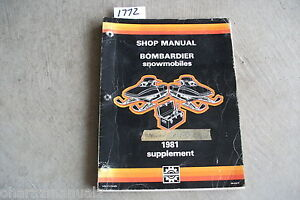 1981 Bombardier Service Manual Supplement