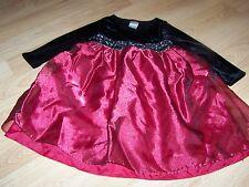 Girls Size 4 Perfectly Dressed Holiday Dress Black Burgundy Beaded Waist Velour