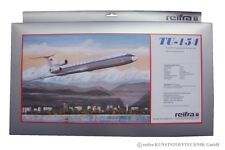 TU-154 Aeroflot Modell Bausatz 1:100 Tupolew TU 154 Flugzeugmodell reifra